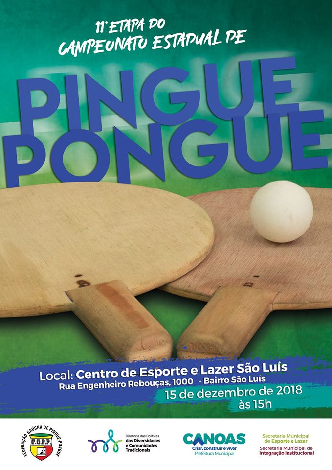 Etapa Final do Campeonato Estadual de Pingue Pongue