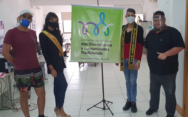 Visita do João Garcia – Embaixador da Diversidade do RS, e da Jadine Santos – Miss Simpatia Trans RS, também atual Miss Trans Esteio.